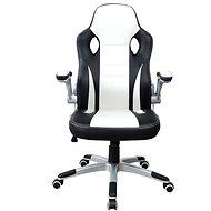 MOSH 2663 černo/bílé - Kancelářské křeslo