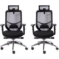 MOSH BS-X03 černá - pack 2ks - Kancelářská židle