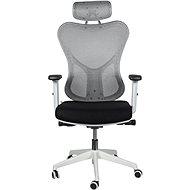 MOSH BS-301 černo/bílá - Kancelářská židle