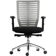 MOSH BS-401 černo/bílá - Kancelářská židle
