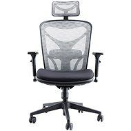 MOSH AIRFLOW-601 černo-bílá - Kancelářská židle