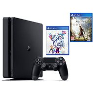 PlayStation 4 Slim 500 GB + Assassins Creed Odyssey + Just Dance 2019 - Herní konzole