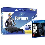 PlayStation 4 Slim 500GB + Fortnite + The Last Of Us Part II - Herní konzole
