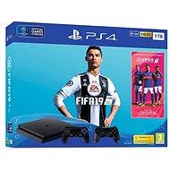 PlayStation 4 1TB Slim + FIFA 19 + extra DualShock 4 - Herní konzole
