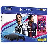 PlayStation 4 1TB Slim + FIFA 19 Champions Edition - Herní konzole