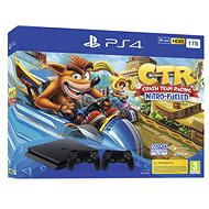 PlayStation 4 Slim 1TB + Crash Team Racing + 2x ovladač - Herní konzole