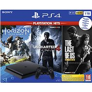 PlayStation 4 Slim 1TB + 3 hry (The Last Of Us, Uncharted 4, Horizon Zero Dawn)