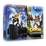 PlayStation 4 - 500GB Slim + 2 hry: Crash Bandicoot N. Sane Trilogy + Ratchet&Clank - Herní konzole