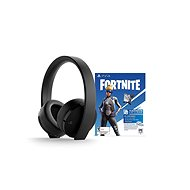 Sony PS4 Gold Wireless Headset Black + Fortnite - Herní sluchátka