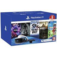 PlayStation VR Mega Pack 2 (PS VR + Kamera + 5 her) - Brýle pro virtuální realitu