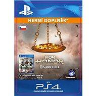 FOR HONOR 5 000 STEEL Credits Pack - PS4 CZ Digital - Herní doplněk