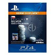 1000 (+100 Bonus) Destiny 2 Silver - PS4 CZ Digital - Herní doplněk