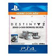 2000 (+300 Bonus) Destiny 2 Silver - PS4 CZ Digital - Herní doplněk
