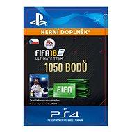 1050 FIFA 18 Points Pack - PS4 CZ Digital - Herní doplněk