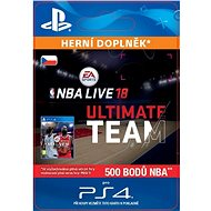 NBA Live 18 Ultimate Team - 500 NBA points - PS4 CZ Digital - Herní doplněk