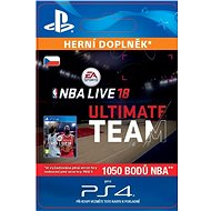 NBA Live 18 Ultimate Team - 1050 NBA points - PS4 CZ Digital - Herní doplněk