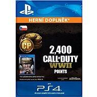 2,400 Call of Duty: WWII Points - PS4 CZ Digital - Herní doplněk