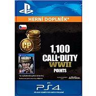 1,100 Call of Duty: WWII Points - PS4 CZ Digital - Herní doplněk