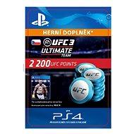 EA SPORTS UFC 3 - 2200 UFC POINTS - PS4 CZ Digital - Herní doplněk