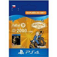 Fallout 76: 2000 (+400 Bonus) Atoms - PS4 CZ Digital - Herní doplněk