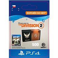Tom Clancys The Division 2 - 500 Credits- PS4 CZ Digital - Herní doplněk