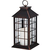 MAT lantern LED candle 28x14x14cm glass / COPPER BLACK - Christmas Lights