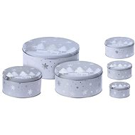 M.A.T.  Round Tin Box CHRISTMAS Set, 3 pieces - Container