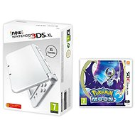 Nintendo NEW 3DS XL Pearl White + Pokemon Moon - Herní konzole