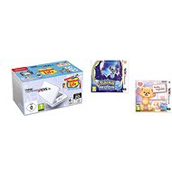 Nintendo NEW 2DS XL White & Levander + Tomodachi Life + Pokémon Moon + Teddy Together - Herní konzole