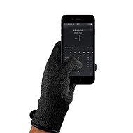 MUJJO Dvouvrstvé dotykové rukavice pro SmartPhone - velikost M - černé