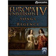 Europa Universalis IV: Songs of Regency Music Pack (PC) DIGITAL - Herní doplněk