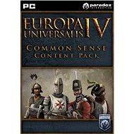 Europa Universalis IV: Common Sense Content Pack (PC) DIGITAL - Herní doplněk