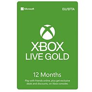 Xbox Live Gold - 12 Month Membership - Prepaid Card