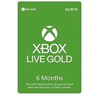 Xbox Live Gold - 6 Month Membership - Prepaid Card