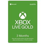 Xbox Live Gold - 3 Month Membership - Prepaid Card