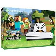 Xbox One S 500GB Minecraft Edition - Herní konzole