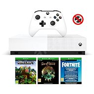 Xbox One S 1TB All-Digital + 3 hry (Fortnite, Minecraft, Sea of Thieves )