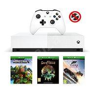 Xbox One S 1TB All-Digital + 3 hry (Fortnite, Minecraft, Sea of Thieves ) - Herní konzole