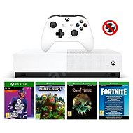 Xbox One S 1TB All-Digital + 4 hry (NHL 20, Fortnite, Minecraft, Sea of Thieves ) - Herní konzole