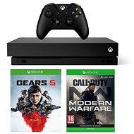 Xbox One X + Gears 5 + Call of Duty: Modern Warfare - Herní konzole