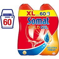 SOMAT Gold Gel Neutra-Fresh XL 2x600 ml (60 dávek) - Gel do myčky
