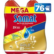 SOMAT Gold Grease Cutting Lemon & Lime 2× 684 ml - Gel do myčky