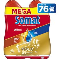 SOMAT Gold Neutra Fresh 2× 684 ml (76 dávek) - Gel do myčky