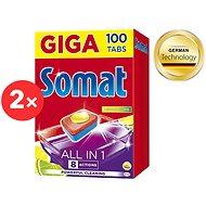 Tablety do myčky SOMAT All in 1 Lemon & Lime 2× 100 ks
