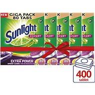 SUNLIGHT All in 1 EXPERT MEGA PACK 5× 80 ks (400 ks) - Tablety do myčky