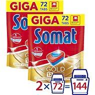 SOMAT Gold 2× 72 Pcs - Dishwasher Tablets
