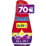 SOMAT All in One Gel Lemon 2× 630 ml (70 dávek) - Gel do myčky
