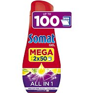 SOMAT All in One Gel Lemon 2× 900 ml (100 dávek) - Gel do myčky