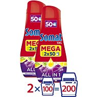 SOMAT All in One Lemon 4x 900ml (200 Doses) - Dishwasher Gel