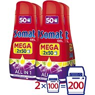 SOMAT All in One Lemon 4 × 900 ml (200 dávek) - Gel do myčky
